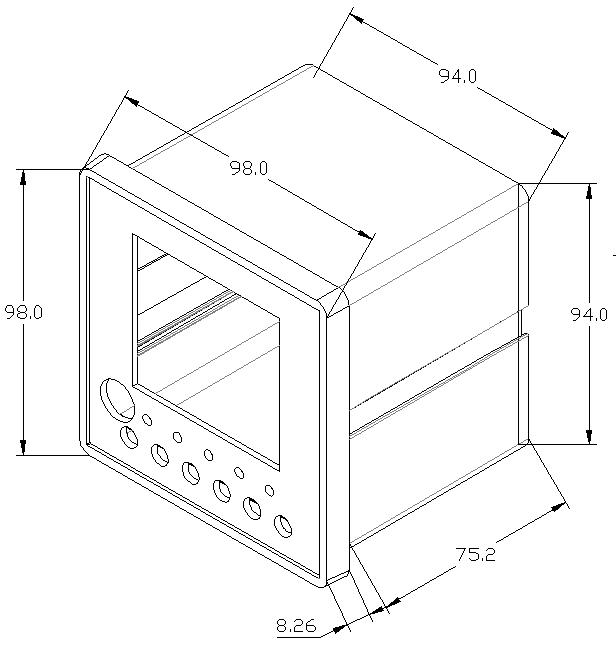 电气火宅监控探测器尺寸-1